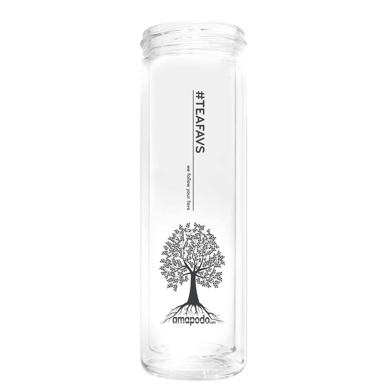 amapodo Ersatzglas transparent für Teekanne, Trinkflasche, Glasflasche, Tee-Glas