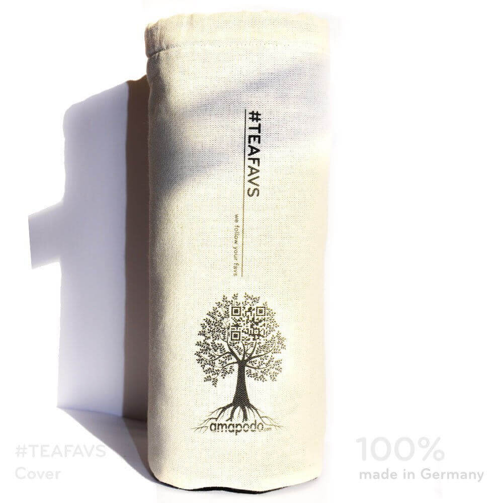 amapodo Cover Schutzhülle beige für Trinkflaschen mit Ø von 6-8cm