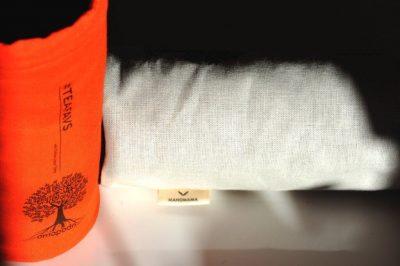 amapodo #teafavs Schutzhuelle für Teeflasche to go, orange, natur