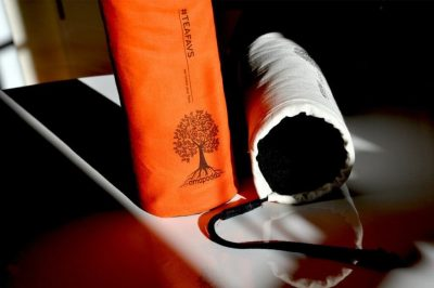 amapodo #teafavs Schutzhuelle für Teeflasche to go, Farbe orange, Farbe natur
