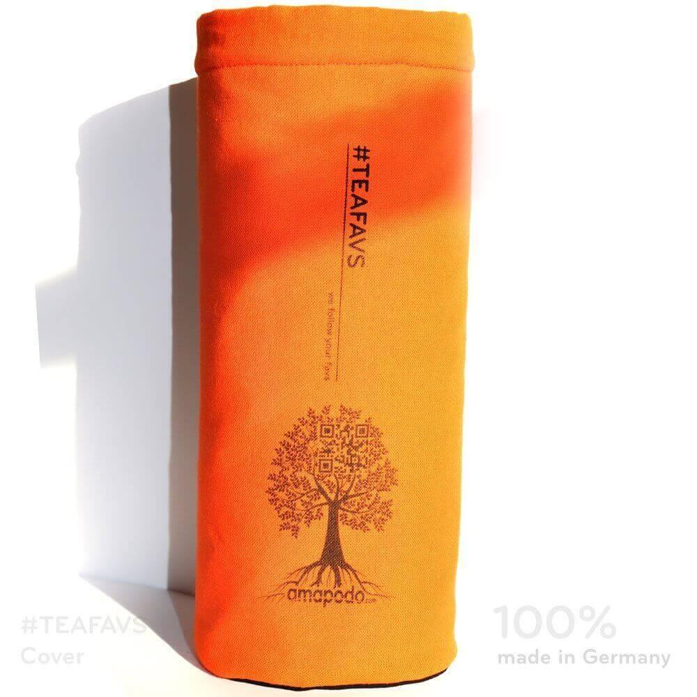 amapodo Cover Schutzhülle orange für Trinkflaschen mit Ø von 6-8cm