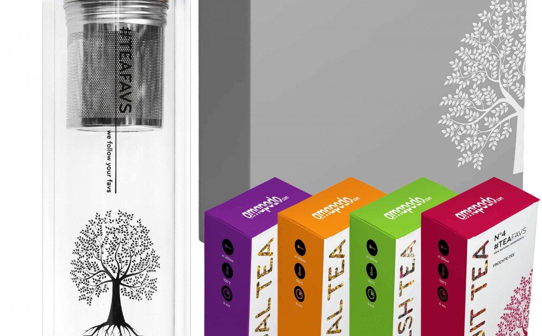 Teeflasche Tee Geschenk Set