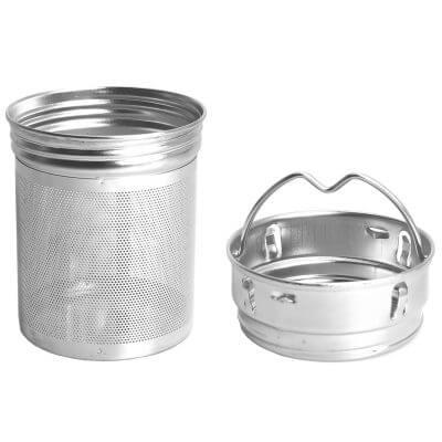 amapodo Teefilter (Oberteil und Unterteil) mit feinem Sieb und Henkel
