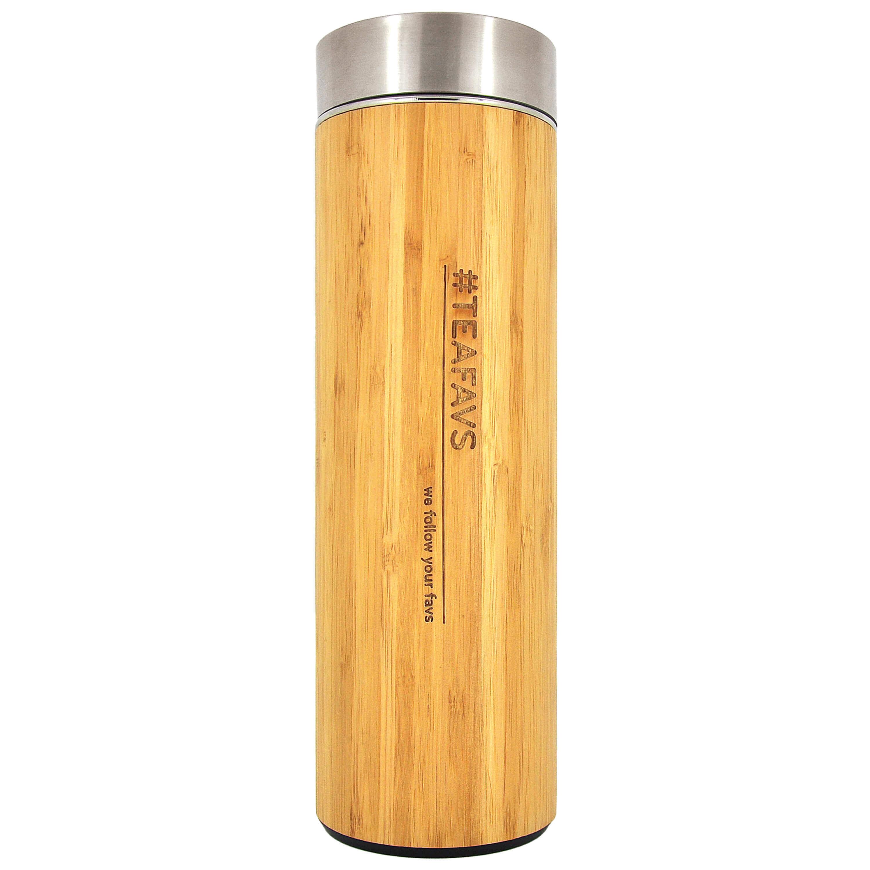 Thermobecher aus Edelstahl, Bambus für Tee & Kaffee