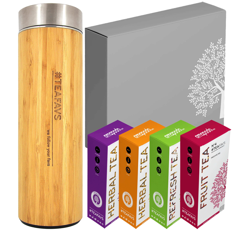 Thermobecher Tee Box Angebot - Geburtstags-Geschenk Set für Frauen & Männer