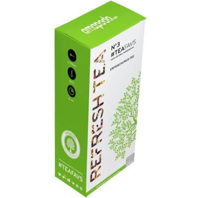 amapodo Erfrischungstee lose 120g, #teafavs N°3, Verpackung-Vorderseite