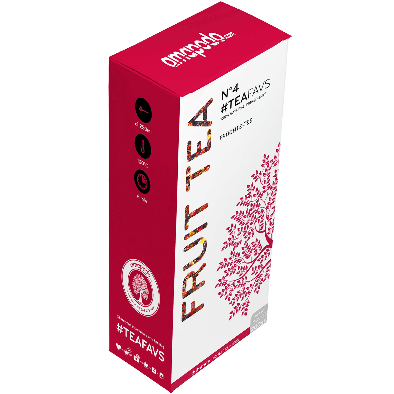 Früchtetee TEAFAVS N°4 | gesund und lecker | Ideal für amapodo Teekanne | Früchte Tee hergestellt in Deutschland