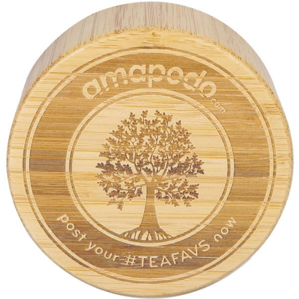 amapodo Bambus Ersatz-Deckel für Teeflaschen aus Glas, einzeln, Vorderseite