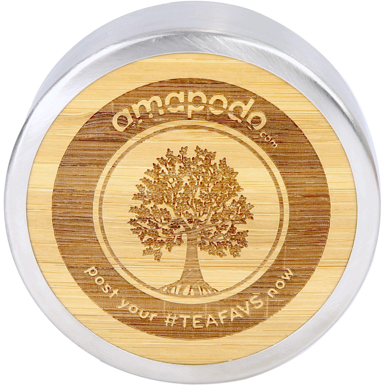 amapodo Ersatzdeckel Verschluss Bambus Edelstahl für Thermobecher