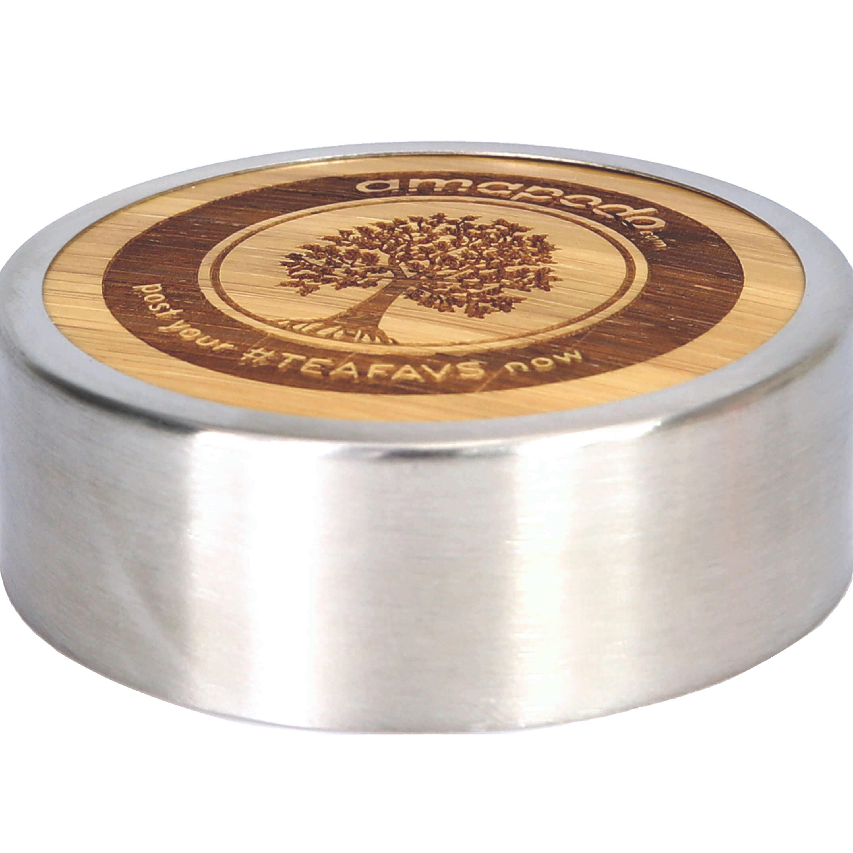 amapodo ersatzdeckel verschluss bambus edelstahl f r thermosflasche thermobecher ebay