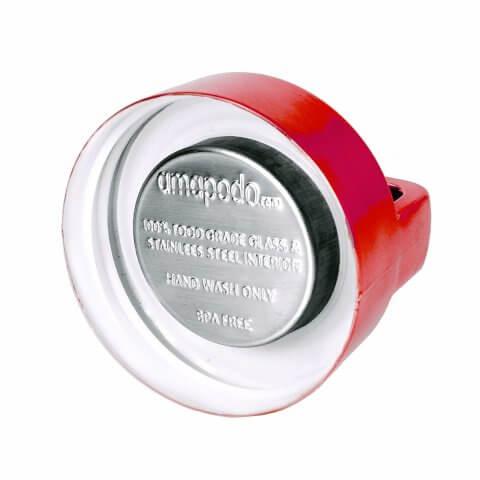 amapodo Teeflasche Deckel Farbe rot, Rückseite