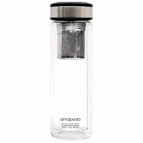 Teeflasche mit Filter und Deckel Anthrazit