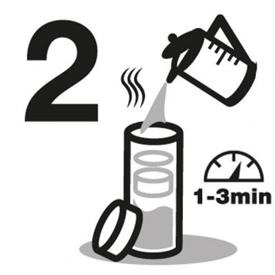 Anleitung Schritt 2 heißes Wasser aufgiessen