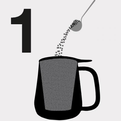 Anleitung Schritt 1 Tee hinzugeben