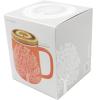Geschenk Verpackung Teetasse mit Deckel orange