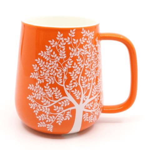 Teetasse ohne Deckel ohne Sieb orange