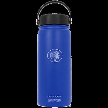 Edelstahl Trinkflasche, blau, 600ml