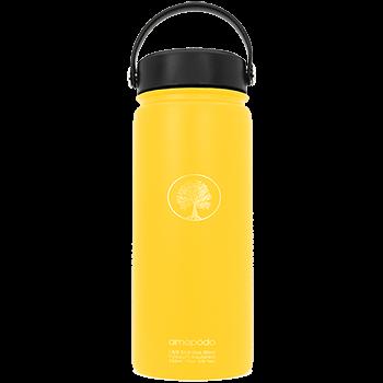 Edelstahl Trinkflasche, gelb, 600ml