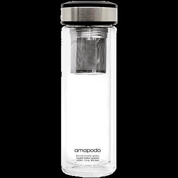 Teeflasche mit Sieb und Deckel, Anthrazit, 400ml