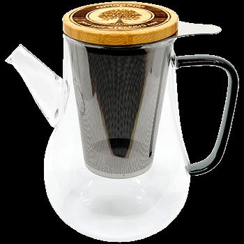 Teekanne mit Sieb und Deckel, Glas, 1100ml