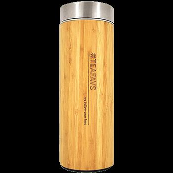 Thermobecher Bambus mit Teesieb 500ml