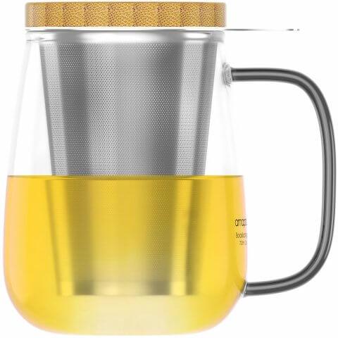 Teeglas 700ml mit Tee
