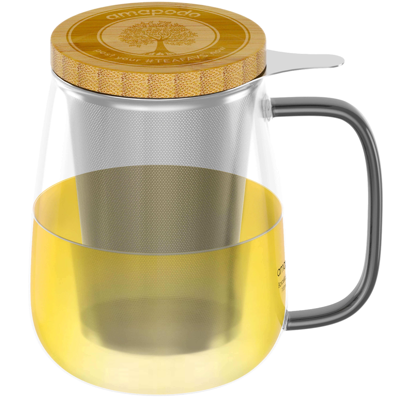 Teeflaschen, Teekannen, Teeglas Teetassen mit Sieb, Trinkflaschen, Tee