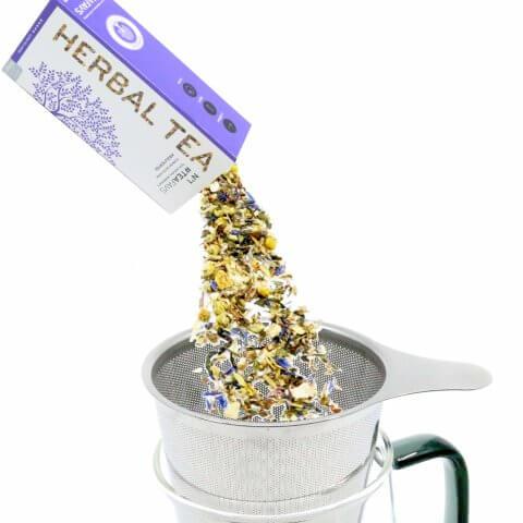 Teekanne 1100ml Teesieb befuellen mit losen Tee