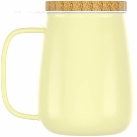 Teetasse 650ml gelb mit Deckel
