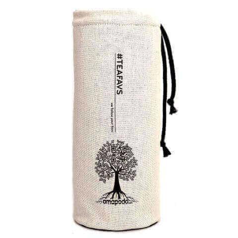 amapodo Schutzhülle für Trinkflaschen Natur