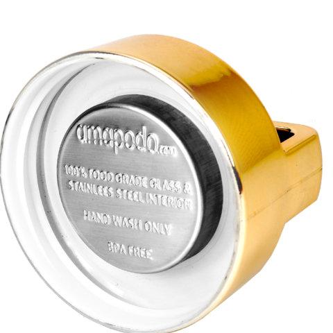 amapodo Ersatz Deckel Gold für 400ml Teeflasche Innenseite
