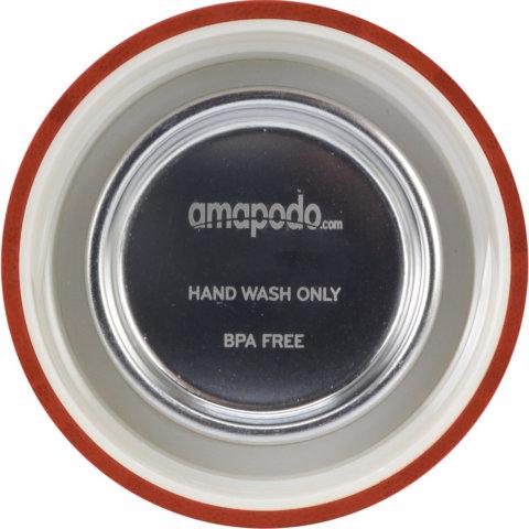 amapodo Ersatz Deckel Bambus Rot für 400ml Teeflasche innen