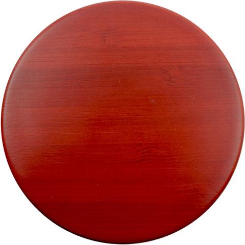 amapodo Ersatz Deckel Bambus Rot für 400ml Teeflasche vorn