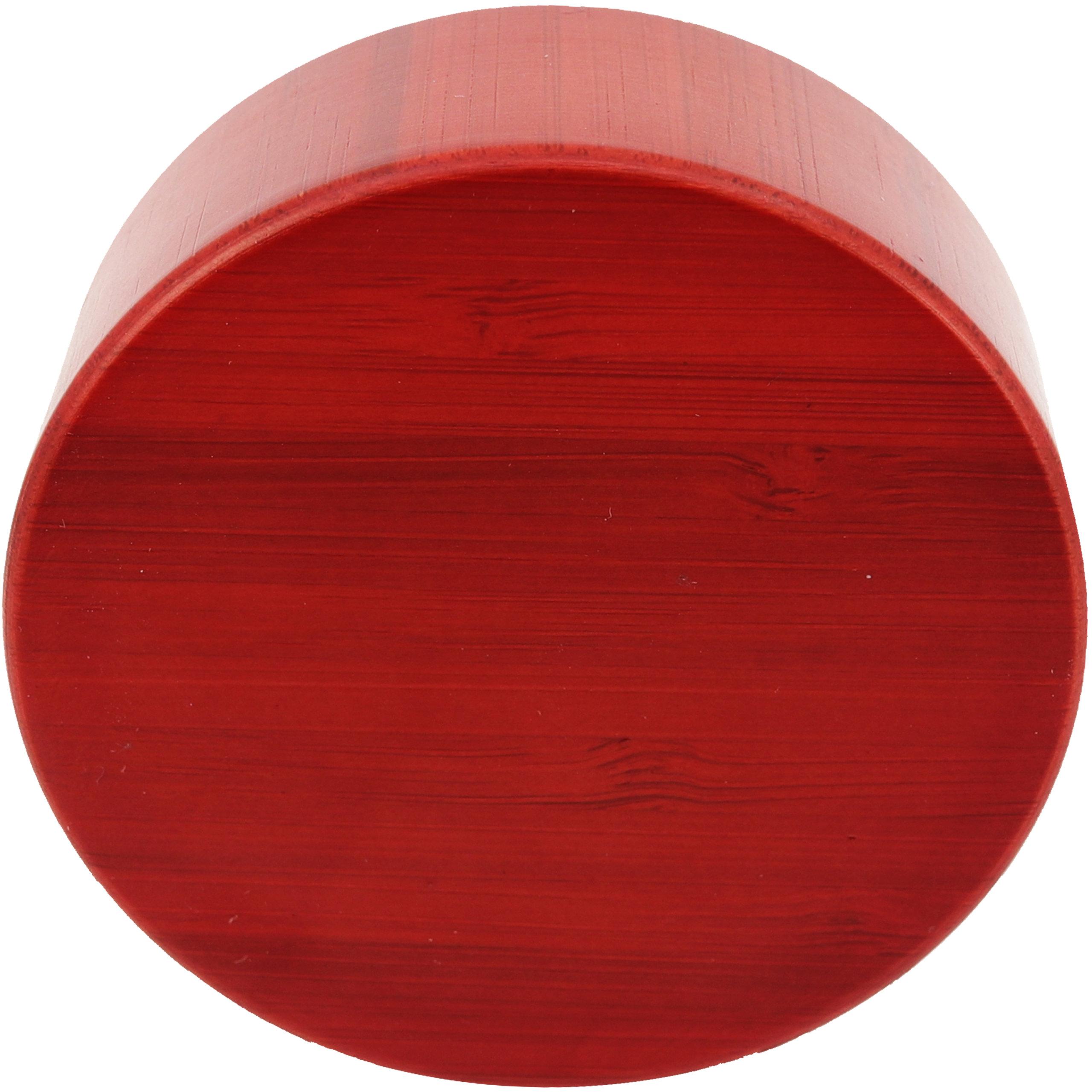 amapodo Ersatzdeckel Bambus Rot passend für 400ml Glasflaschen - Edelstahlkern mit Teesieb Ablage BPA-Frei