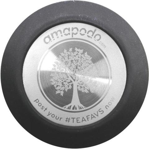 amapodo Ersatz Deckel Schwarz für 400ml Teeflasche vorn