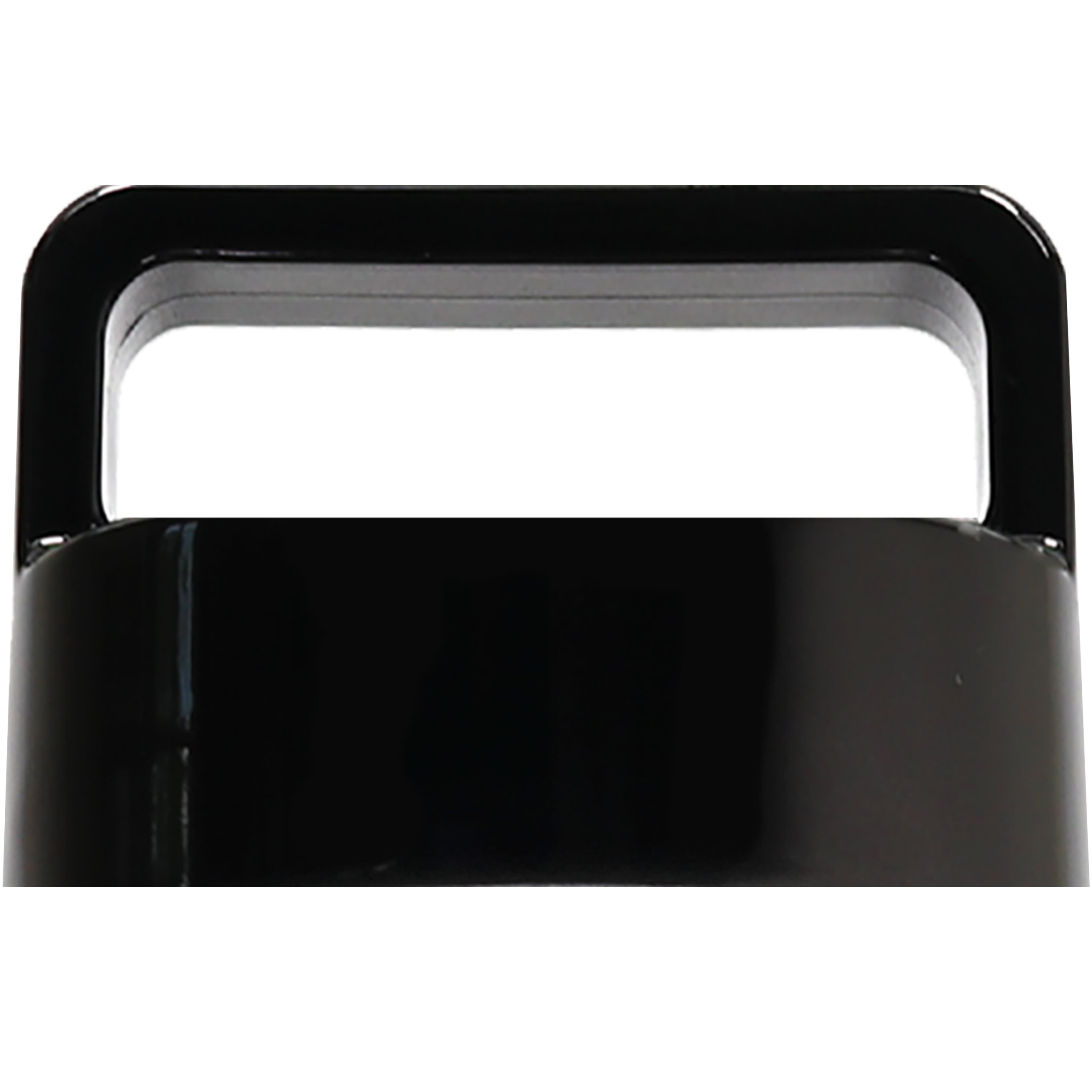 amapodo Ersatzdeckel in Schwarz passend für 400ml Glasflaschen - Edelstahlkern BPA-Frei