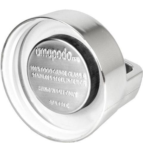 amapodo Ersatz Deckel Silber für 400ml Teeflasche Innenseite