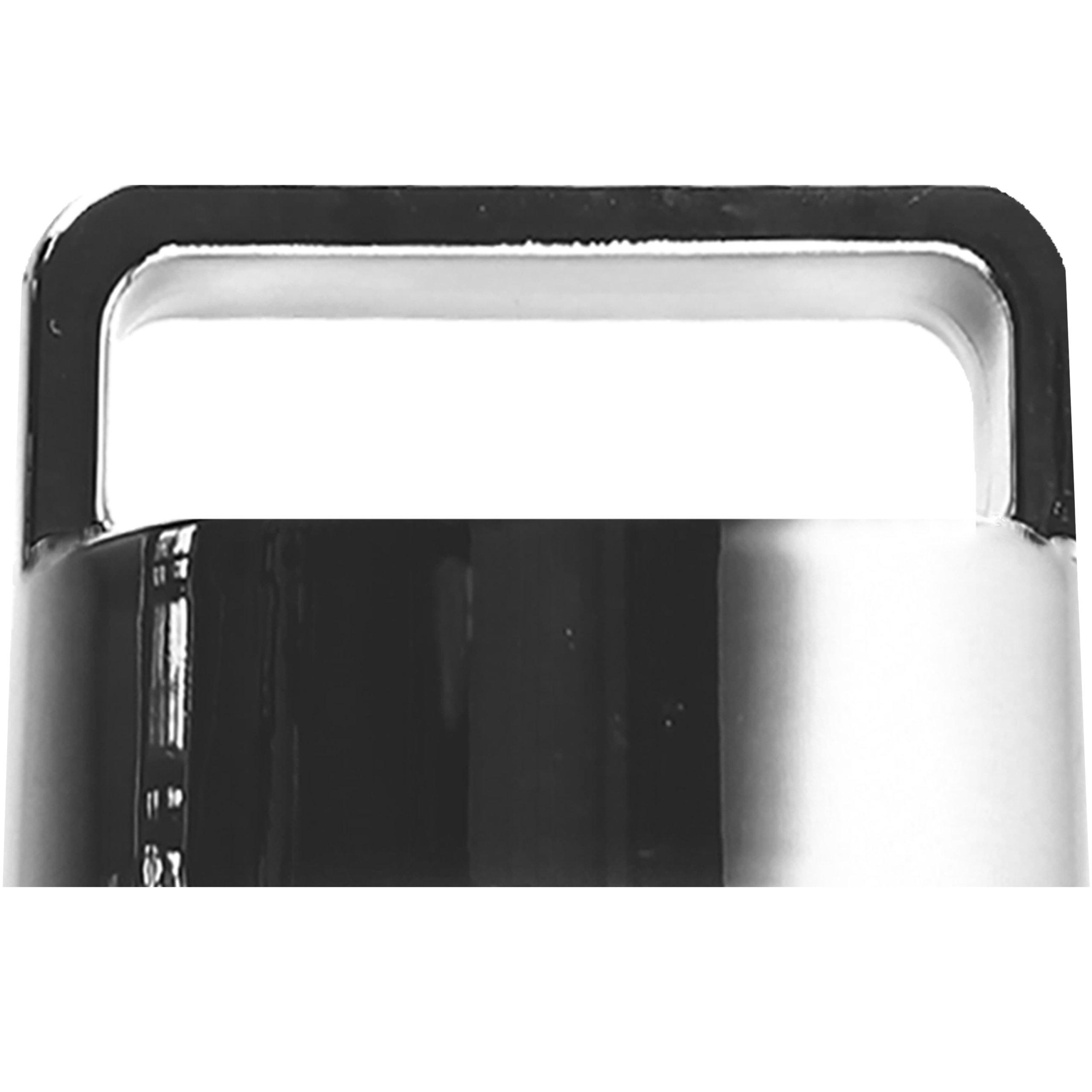 amapodo Ersatzdeckel in Silber passend für 400ml Glasflaschen - Edelstahlkern BPA-Frei