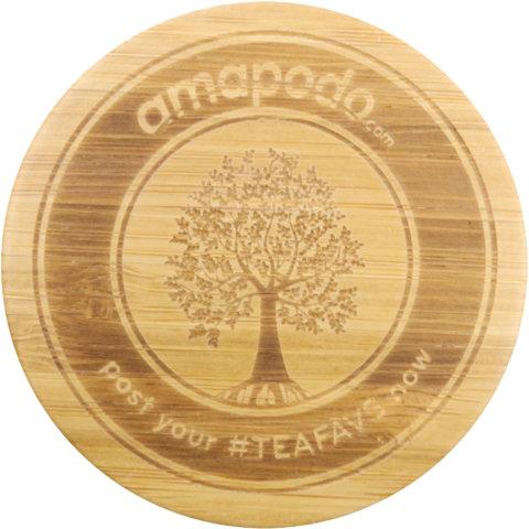 amapodo Ersatz Deckel Tea Tree für 400ml Teeflasche vorn