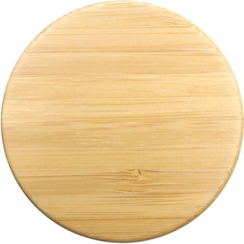 amapodo Ersatz Deckel Bambus für 400ml Teeflasche vorn
