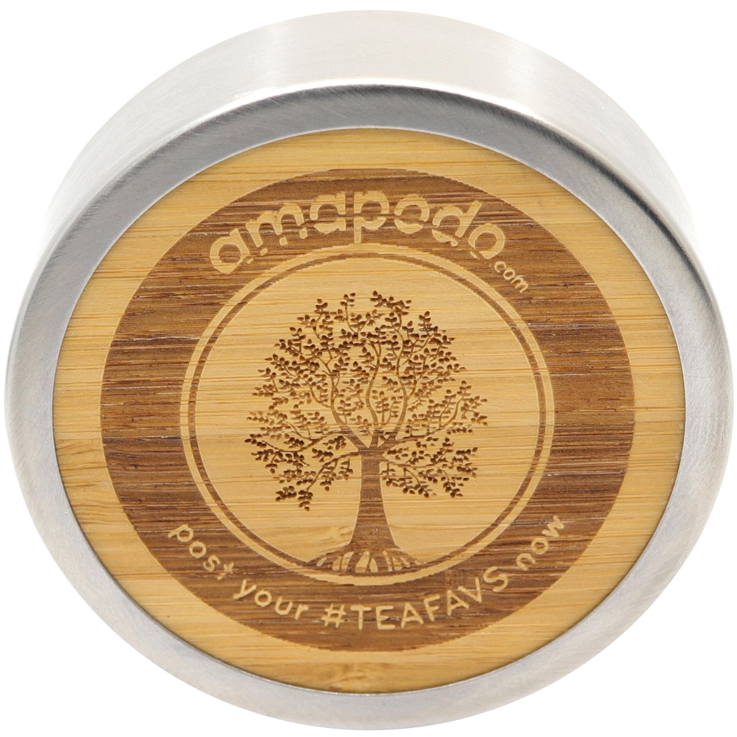 amapodo Ersatzdeckel (Passt nur für 500ml Edelstahl Thermobecher) Edelstahlkern mit Teesieb Ablage BPA-Frei