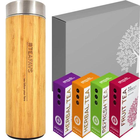 amapodo Tee Geschenke für Frauen und Männer Geschenkbox Geschenkset Angebot Thermobecher