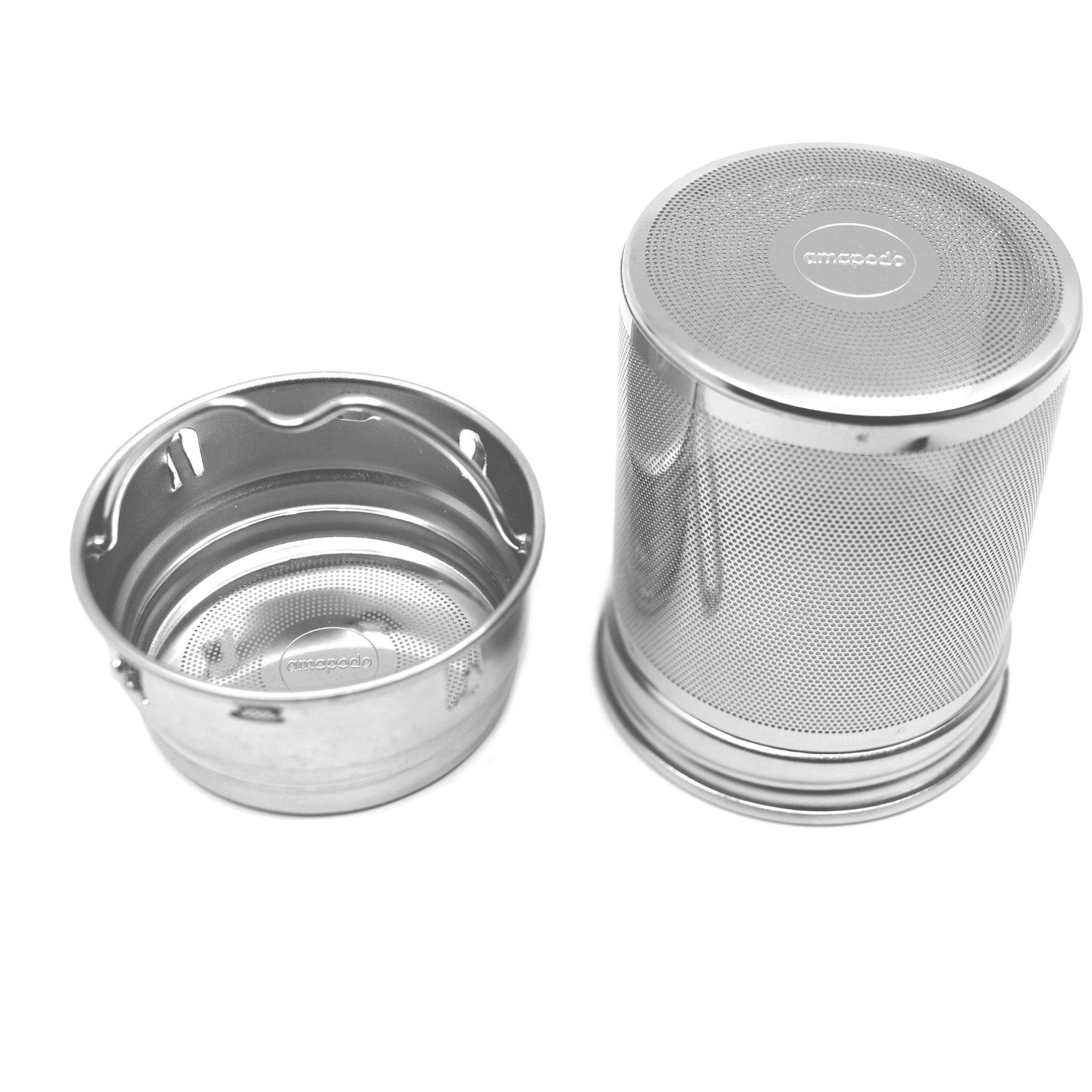 73JohnPol Loose Leaf Tea Infuser Wiederverwendbares sicheres Teesieb mit Tropfschale aus Edelstahl f/ür Teeliebhaber