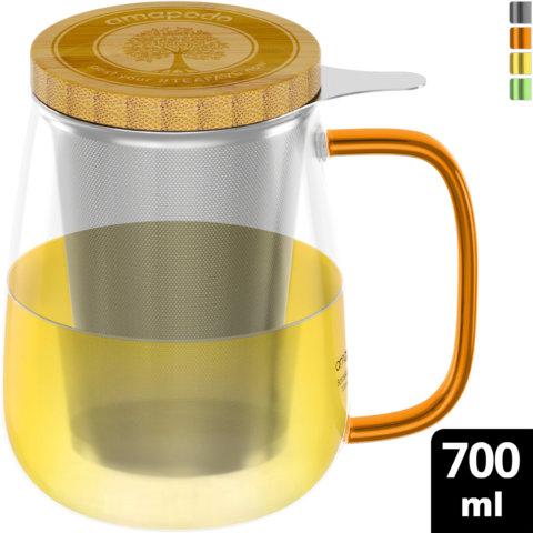 amapodo-Teeglas-mit-Sieb-und-Deckel-700ml_Henkel-orange
