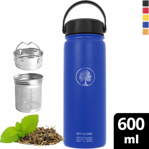 amapodo-Trinkflasche-Edelstahl-600ml-isoliert-mit-Sieb-blau