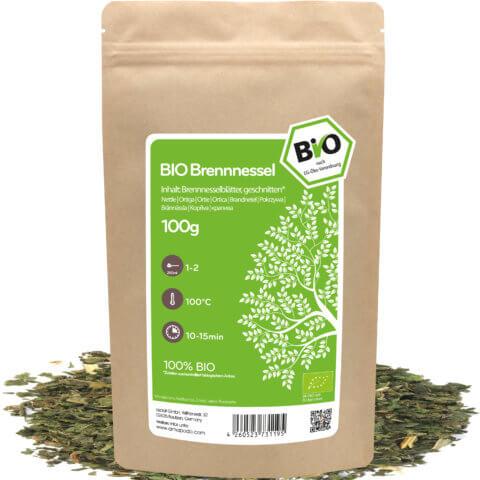 amapodo Bio Brennnessel Tee 100g lose Verpackung
