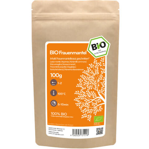 amapodo Bio Frauenmantel 100g Verpackung