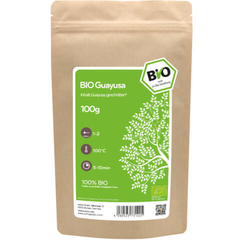 amapodo Bio Guayusa geschnitten 100g Verpackung