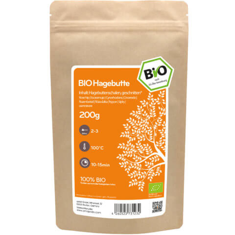 amapodo Bio Hagebutte Tee 200g Verpackung