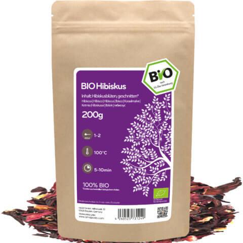 amapodo Bio Hibiskus Tee 200g lose Verpackung